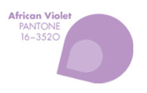 Pieces of Pantone: African Violet
