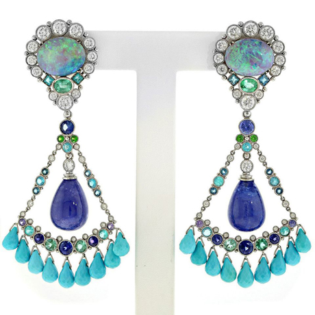 Deidre Featherstone Best Use of Platinum and Color earrings