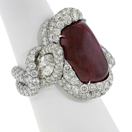 James Currens ATA Spectrum Award Winner Best of Show ruby, diamond, and platinum ring