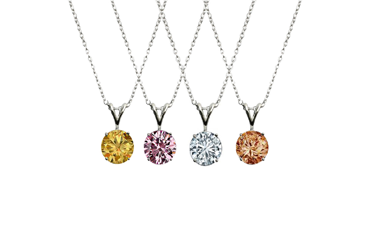 Diamond Veneer CZ pendants in silver
