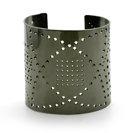 Russell Jones Wing Tip oxidized silver cuff