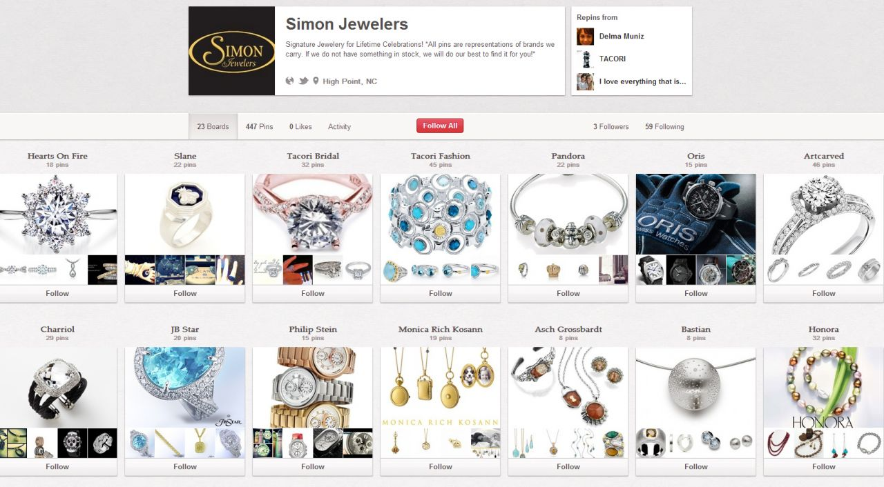 simon jewelers pinterest