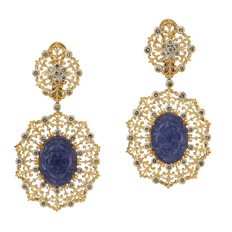 Buccellati one-of-a-kind earrings from its 60th Anniversary Pendant Earring collection