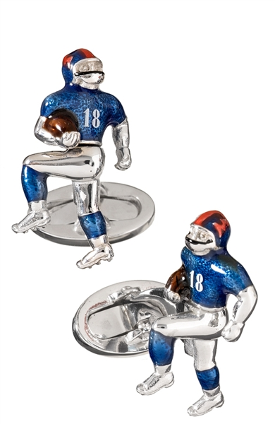 Jan Leslie football cufflinks