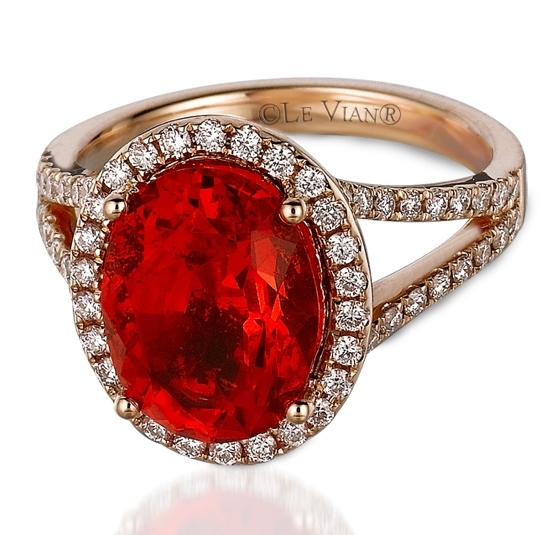 Le Vian Couture fire opal ring