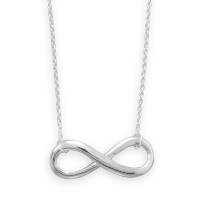 Silver Stars infinity necklace