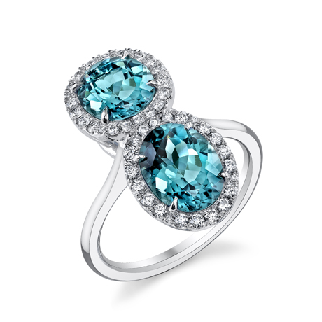 Tamir Jewels Namibian blue tourmaline and diamond ring