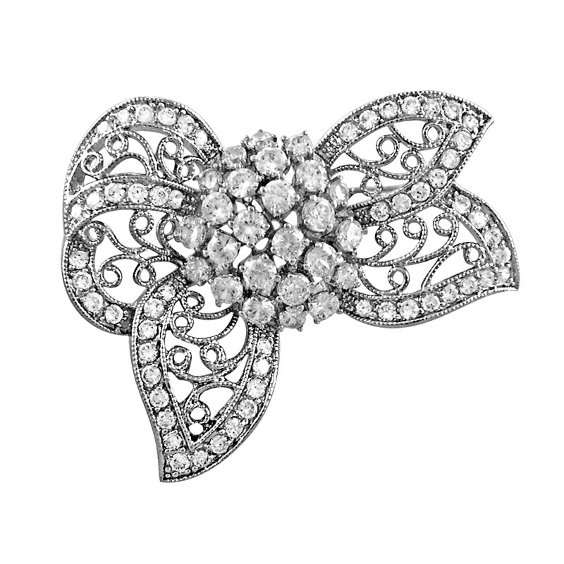 M.Y International CZ brooch