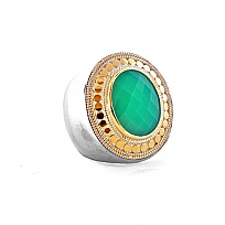 Anna Beck Designs silver and chalcedony ring