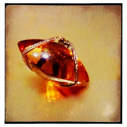 Ring in 18k gold with citrine
