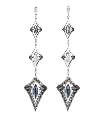 Hera silver earrings