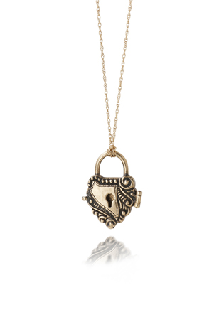 Locket in 14k gold by Just Jules