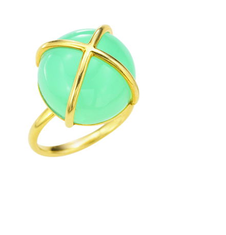The Mazza Co. gold and chalcedony ring