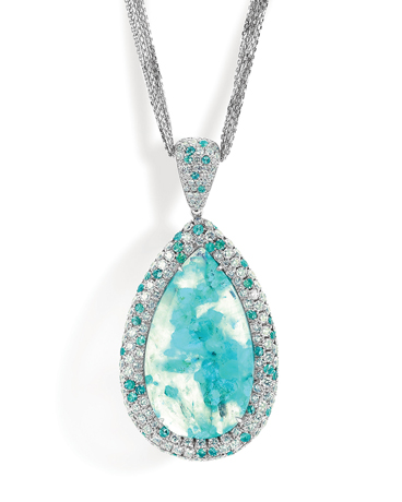 Rahaminov Diamonds Paraiba necklace