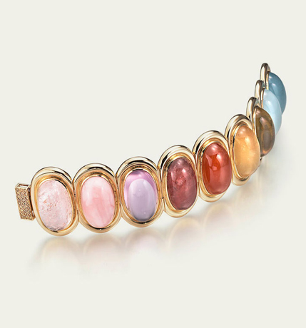 Gemstone bracelet by Tamsen Z.