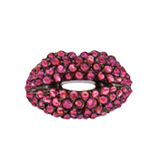 Ruby-studded Lips ring by Solange Azagury-Partridge