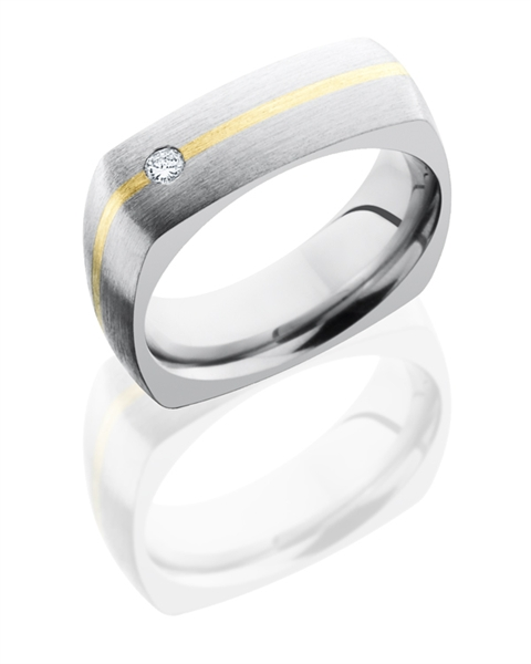 Lashbrook two-tone flush diamond band