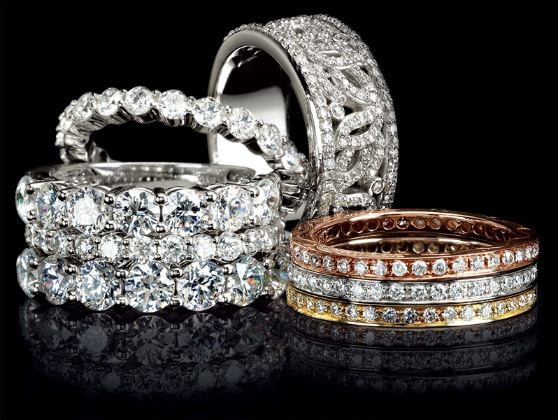 Stuller stackable diamond wedding bands