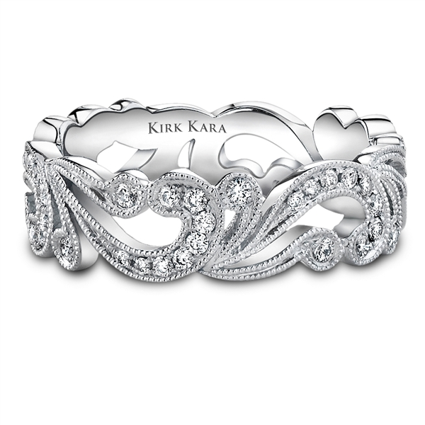 Kirk Kara Angelique Diamond Wedding Band