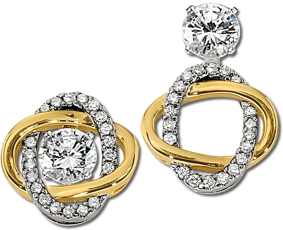 Gottlieb and Sons convertible diamond earrings