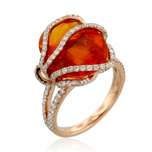 Yael Lava fire opal ring