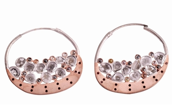 Khushboo diamond slice hoops