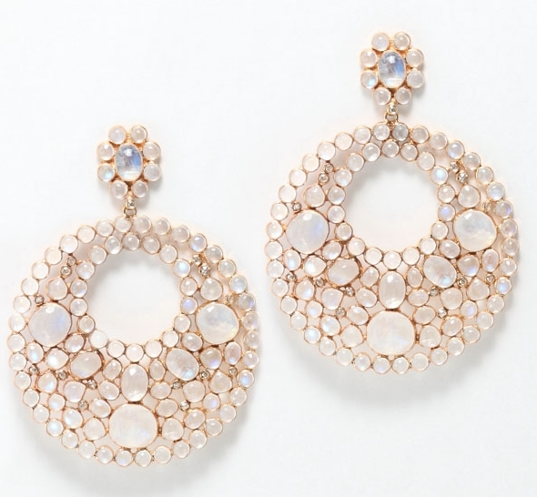 Rina Limor pink moonstone earrings