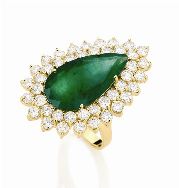Goldesign emerald pear ring