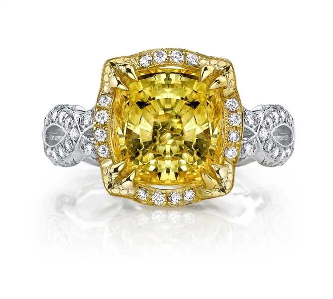 Katharine James Bella's Love yellow sapphire ring