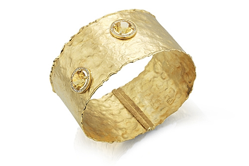 I. Reiss hammered citrine bangle
