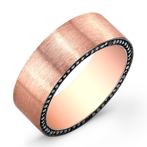 Rahaminov Moses rose gold band
