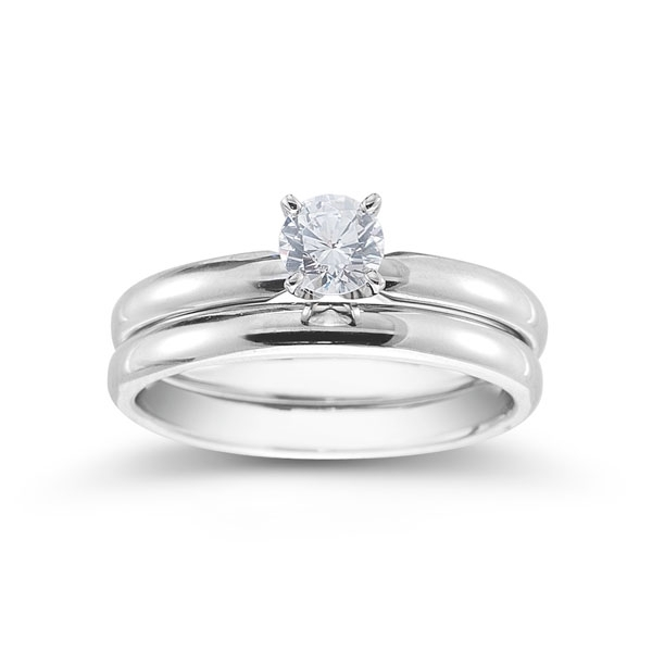 Novell Design Studio Tiffany-style solitaire set