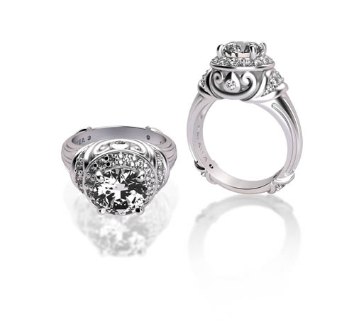 Galatea diamond engagement ring collection