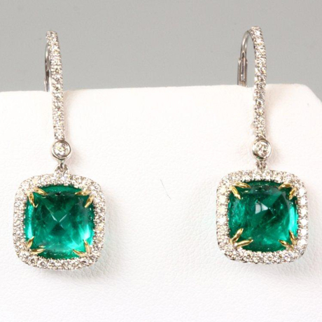 OMI Gems emerald earrings