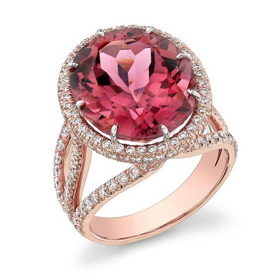 Omi Prive pink tourmaline ring