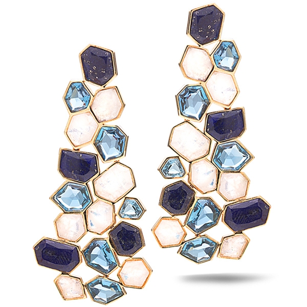 Allia large cluster drop earrings