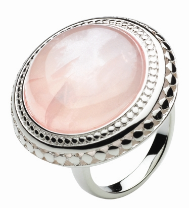 Kit Heath rose quartz Grecian ring