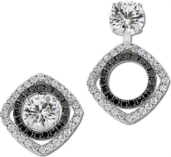 Gottlieb and Sons circle and square earring jackets