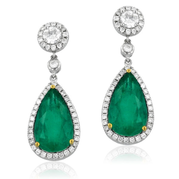 Yael Green Dew emerald earrings