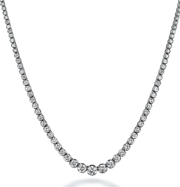 Diamour graduated diamond riviera necklace