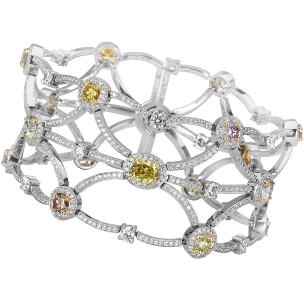 Beaudry International pastel diamond bracelet