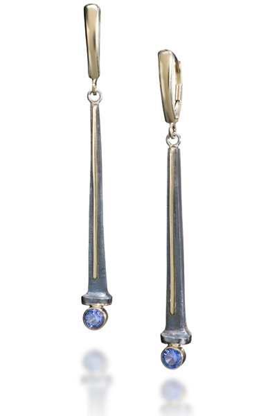 Robert Gray Kaylor sapphire taper drop earrings