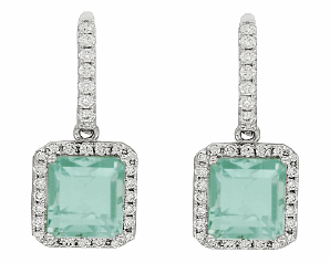 CH Hakimi green tourmaline drop earrings