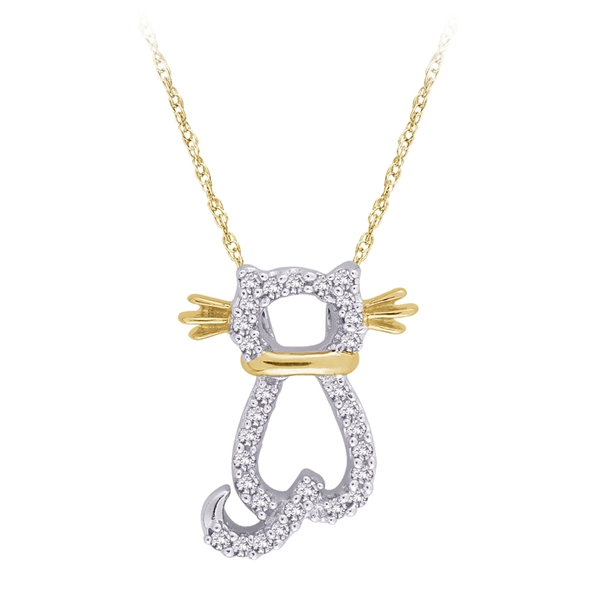 Shah Diamonds cat pendant