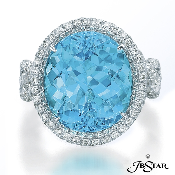 Jb Star paraiba and diamond ring