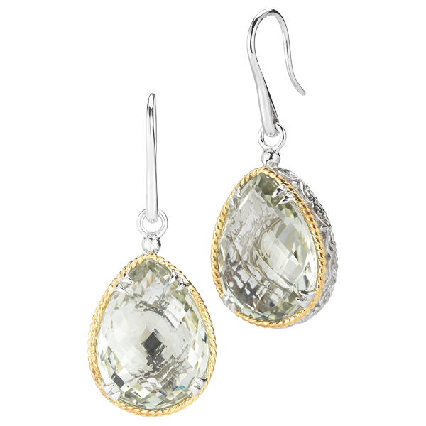 DeLatori green amethyst earrings