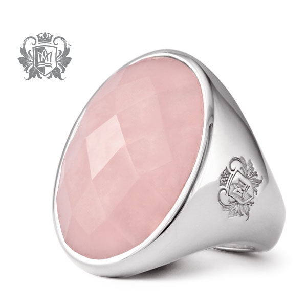 Metalsmiths Sterling rose quartz cocktail ring