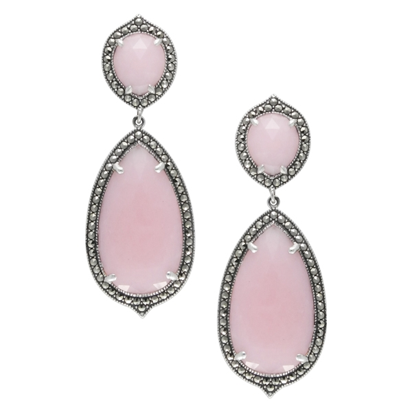 MARC pink opal drop earrings