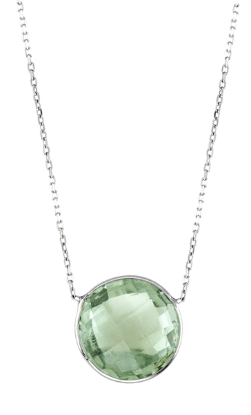 KGM Industries green amethyst Lollipop necklace