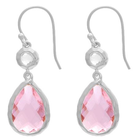 NES Jewelry rose quartz drop earrings